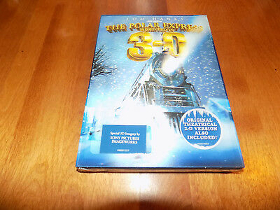 THE POLAR EXPRESS TOM HANKS 3-D WIDESCREEN Christmas Holiday Classic DVD NEW