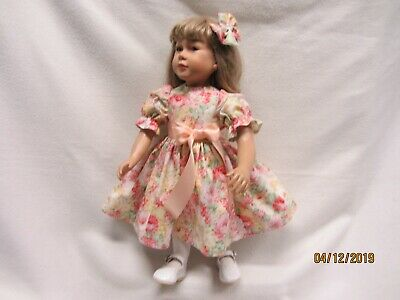 "THIS ONE IS A BEAUTY dress fits 23"" My Twinn doll & matching bow barrette  2"