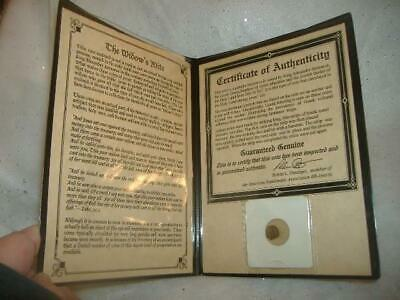 GENUINE ANCIENT HOLY LAND COIN COA BC WIDOW'S MITE BRONZE Jesus King Alexander