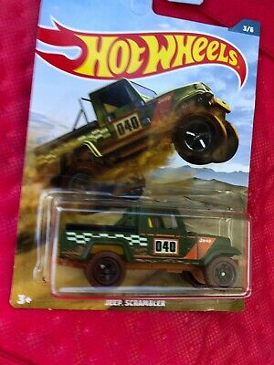 'Spanking' NEW HOT WHEELS JEEP SCRAMBLER 2019 OFF ROAD TRUCK SERIES ! RARE !