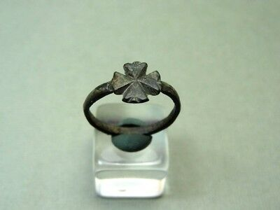 Ancient Cross Ring Bronze 400-600 Ad