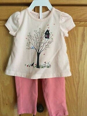 0ff839af79 Baby GAP Pink Treehouse Cat Graphic Top & Jegging Outfit Girls Size 3-6 Mos