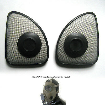 2 Gasmask Filters Filter fit M10 M10M Czech Gas Mask Military Army Surplus