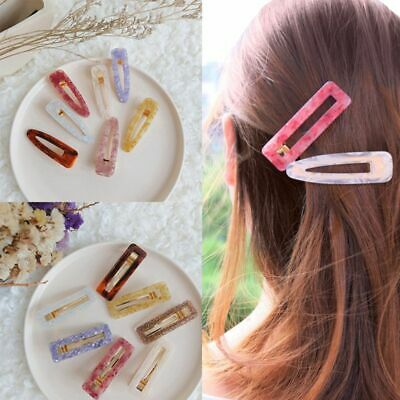 Fashion Women's Hair Slide Clips Snap Barrette Hairpin Pins Hair Accessories us