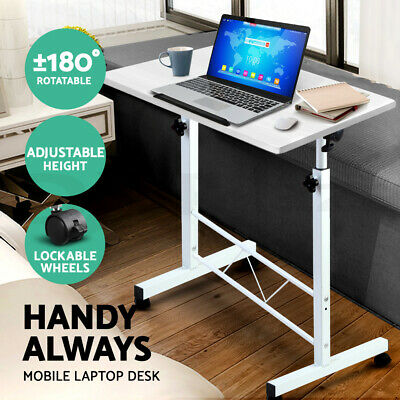 Portable Mobile Laptop Desk Computer Table Adjustable Stand Study Office Work WH