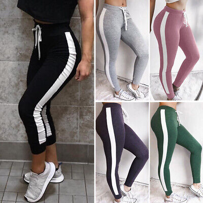 Women Sports YOGA Pants Workout Gym Fitness Leggings Athletic Stretch Trousers A