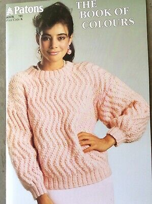 Vintage Patons Knitting Pattern Book 785 The Book of Colours