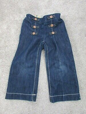 Next girls 2-3 years dark denim high waist trousers - Excellent condition