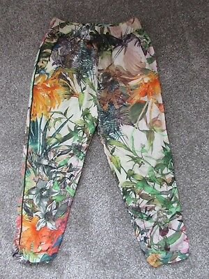 Unusual Next girls 5 years tropical plants leaves summer holiday trousers - VGC