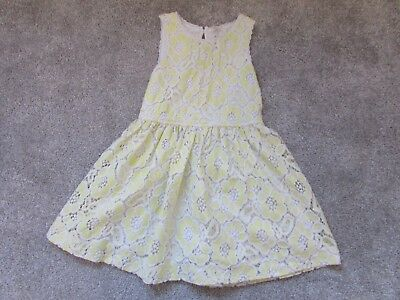 Next girls 7 years yellow floral summer holiday dress  - Good condition