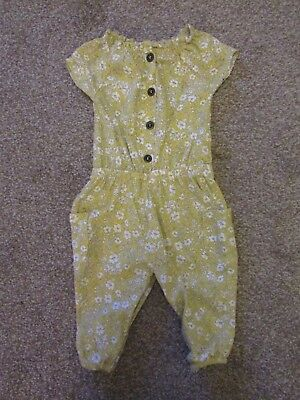 Next girls 3-6 months yellow floral holiday jumpsuit Very good condition