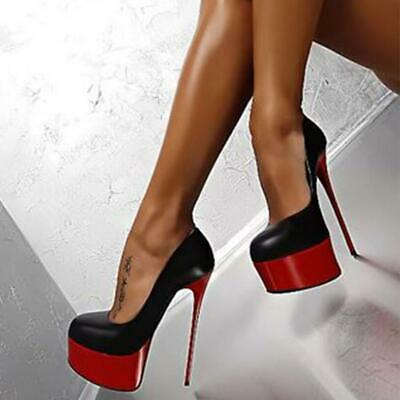 Ladies Platform Stiletto Killer Women High Heels Sexy Court Party Shoes Size New