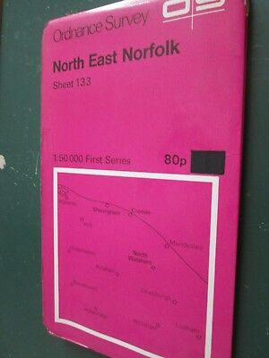 Ordnance Survey Map First Series 1:50000 Sheet 133 North East Norfolk  1974