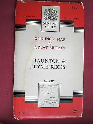 Ordnance Survey One inch map  Sheet 177 Taunton and Lyme Regis 1966 7th series