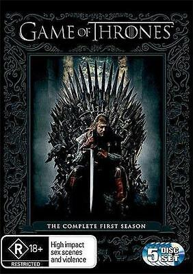 Game Of Thrones : Season 1 (DVD, 2012, 5-Disc Set) NEW