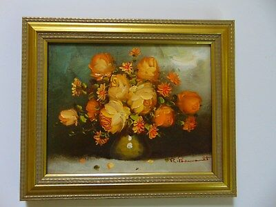 Yellow Roses - Oil On Canvas - Signed & Framed - Gorgeous