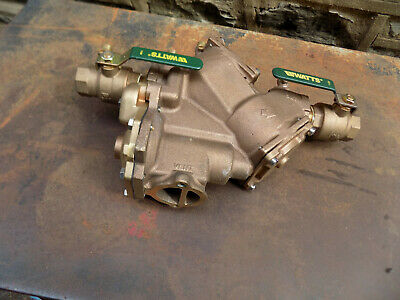 """New Watts 909M1Qtrp Backflow Preventer Reduced Pressure Zone Assembly 1-1/4"""""""