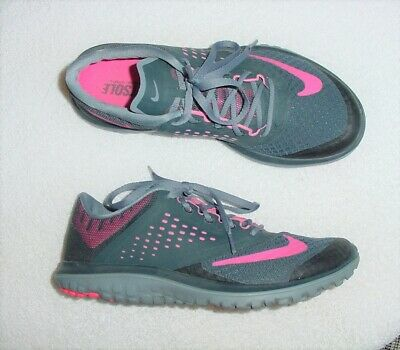 separation shoes 7be20 e38c0 Womens Authentic Nike Fs Lite Run 2 Shadow Gray Pink Running Training Shoes  8 M