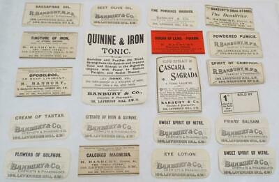 Pharmacist Chemist Drug Store 20 Antique Victorian Labels (b)
