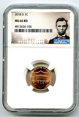 2018 D Us Mint Cent Union Shield Ngc Ms66 Rd Lincoln Label Super High Grade