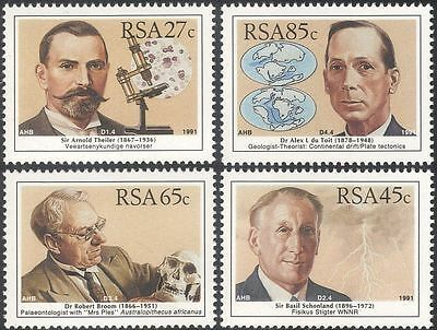 RSA 1991 Scientists/Science/People/Microscope/Weather/Geology 4v set (n23358)