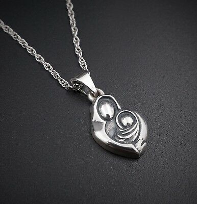 """Retired James Avery Sterling Silver Motherhood Pendant Necklace 16"""" Rope NS1023"""