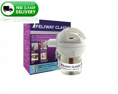 FELIWAY Classic 30 day starter kit. Diffuser and Refill. Comforts cats helps...