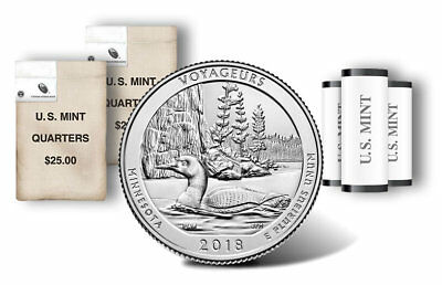 2018 P&D Voyageurs American The Beautiful National Park Quarters Coin U.S. Mint