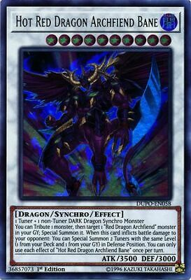 3x Hot Red Dragon Archfiend Bane - 1st Edition - DUPO-EN058 - Ultra Rare - NM