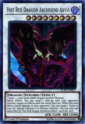 Hot Red Dragon Archfiend Abyss - 1st Edition - DUPO-EN057 - Ultra Rare - NM