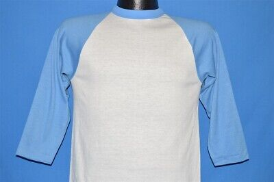 vintage 70s RUSSELL ATHLETIC DEADSTOCK WHITE BLUE 3/4 SLEEVE t-shirt YOUTH XL