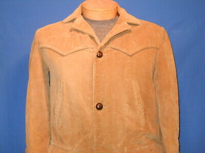 vintage 70s JC PENNEY TOWNCRAFT CORDUROY BLANKET LINED MENS WINTER TOP COAT 40