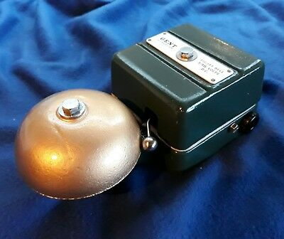 Vintage Old Industrial Gent Electric Door Fire Alarm Butler  Bell Low Volts