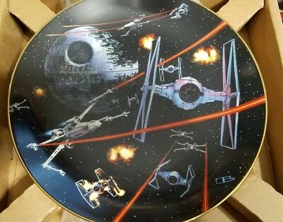 Hamilton Star Wars Space Battle Limited Numbered Plate with COA