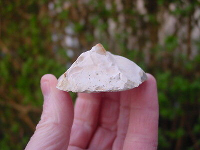 LARGE Mesolithic white patinated Flint END & SIDE SCRAPER Dorset England