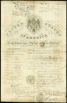 Daniel Webster - Passport Signed 07/14/1851 With Co-Signers