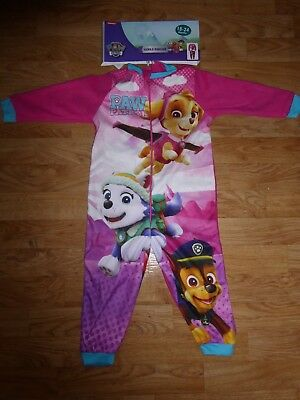 Kids All in One Girl Fleece ONE PIECE Children's Pyjamas PAW PATROL 18-24 months