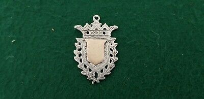 Antique HM 1905 G Loveridge Solid Sterling Silver & 9ct Gold Watch Fob Medal