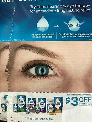 (2)   Save $3 off any Thera Tears product Coupon  - expires 3/31/20