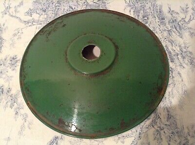 Original French Industrial Vintage Green Enamel Shade Coolie Light Shade (2244)
