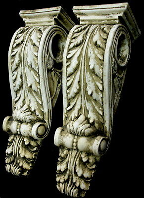 Antique Finish Shelf Acanthus leaf Wall Corbel Sconce Bracket Home Decor