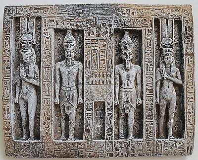 Ancient Egyptian Wall Sculpture Ramses and Nefertari 11""