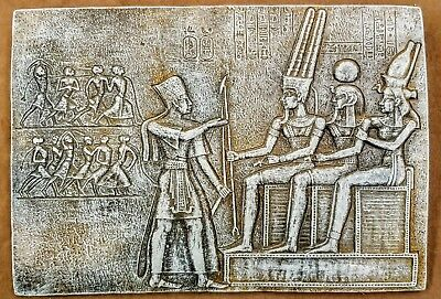 Ancient Egyptian Wall Sculpture offering Ceremony King Tut