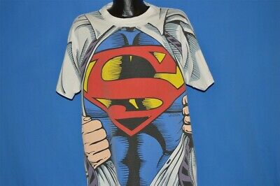 Licensed I/'m Superman Clark Kent Costume Sublimation Poly Tee Shirt S-3XL