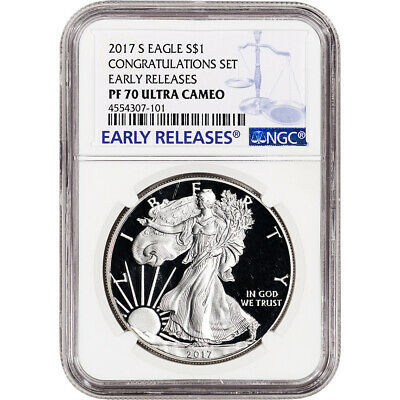 2017-S American Silver Eagle Proof - NGC PF70 UCAM - Early Releases