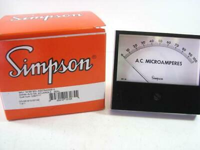 Simpson 16185 AC Current 0 - 100 Analog Panel Meter NEW