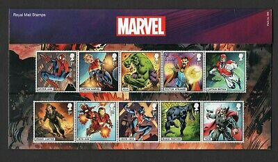 Gb 2019 Marvel Stamp  Presentation Pack