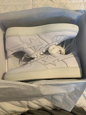 abbe595e094f A Bathing Ape x Kith Ronnie Fieg Premium Leather Bapesta Fiegsta Eu 43  White 11