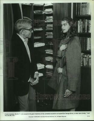 """1979 Press Photo Brooke Shields with George Burns in """"Just You and Me, Kid"""""""