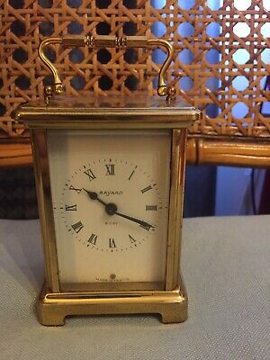 French Duverdrey & Bloquel ( Bayard ) 8 Day Brass Cariage  Clock